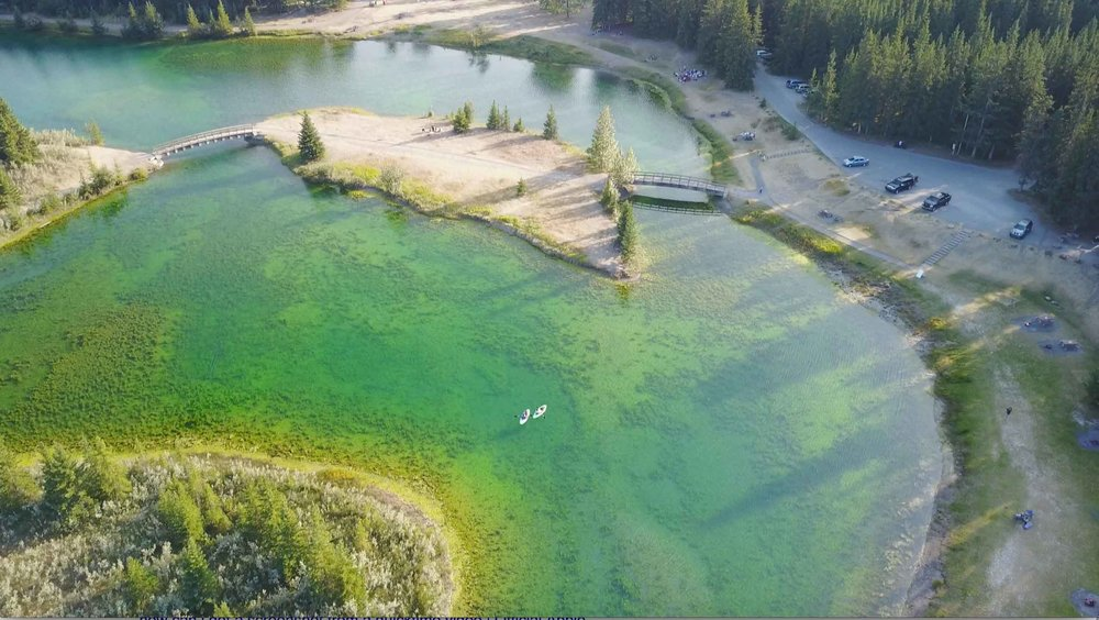 Aerial (drone) photo of Cascade Ponds.