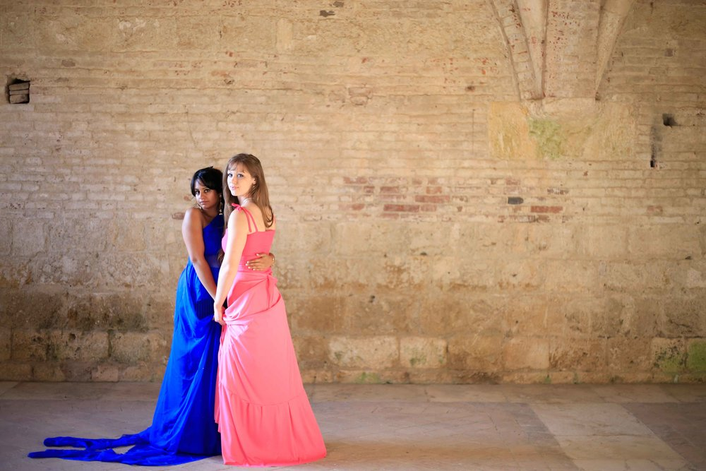 Playing dress up at the Abbey of San Galgano (Tuscany, Italy)