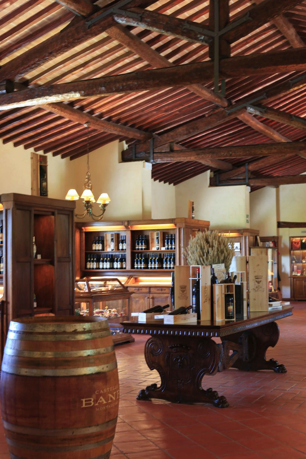 The shop at Castello di Banfi has so many wonderful wines, olive oils, pottery and much more to bring home!