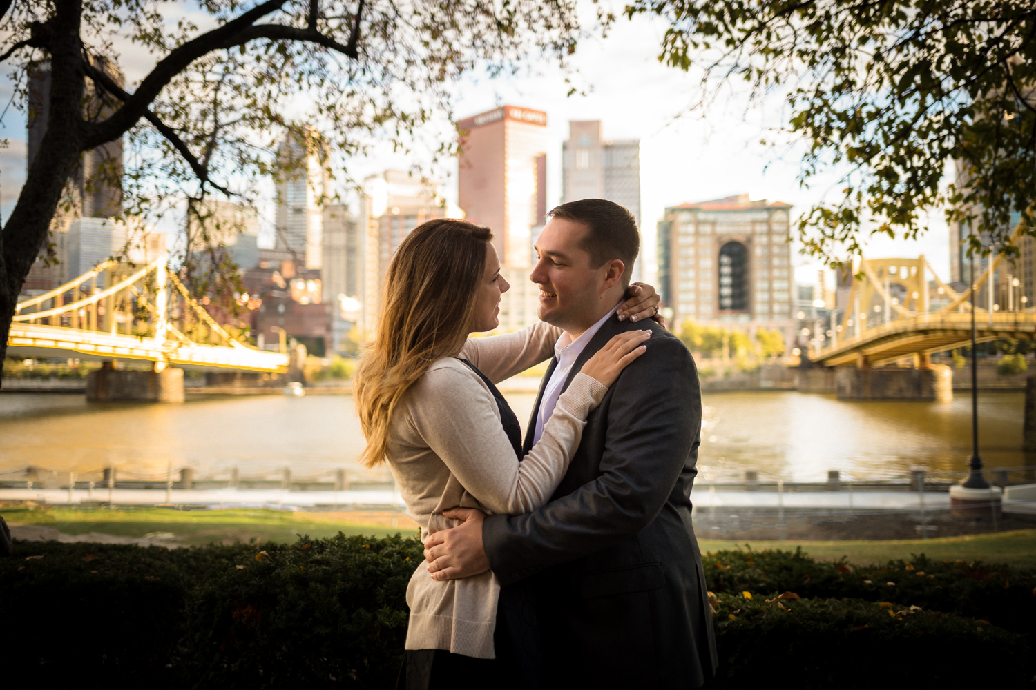 North Shore Engagement Pictures Drew Alexa Pittsburgh