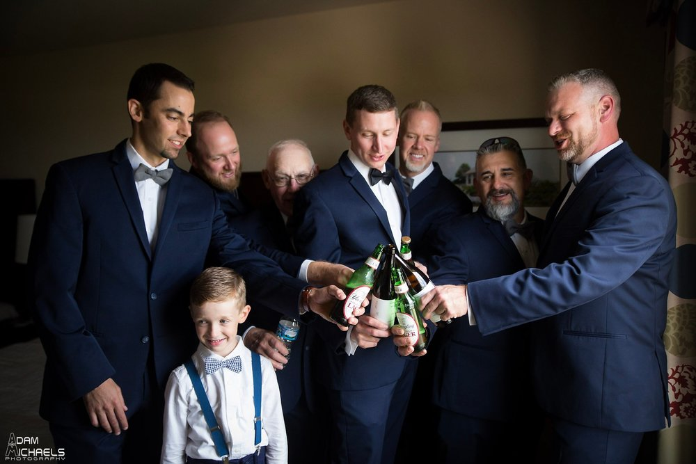 NOAH's event venue Cranberry twp groomsmen