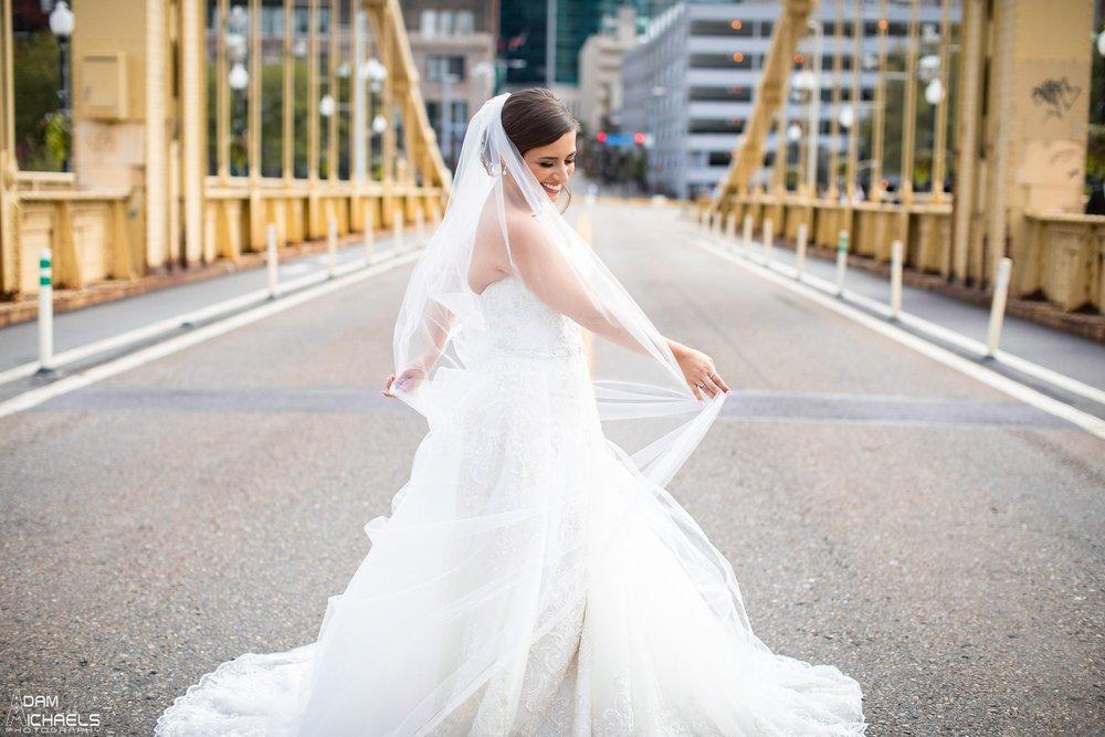 Pittsburgh Clemente Bridge Wedding Bridal Portraits _2598.jpg