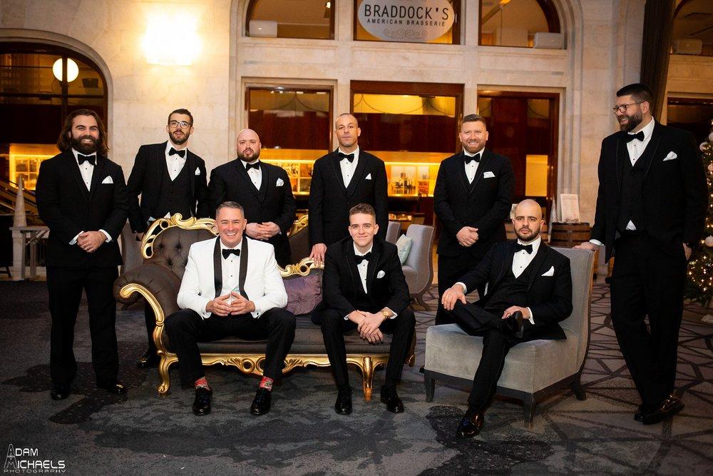 Pittsburgh Renaissance Hotel Wedding Groom Getting Ready_2885.jpg