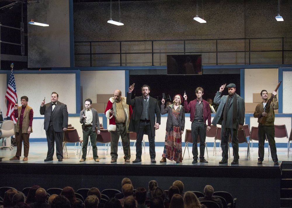 Lyric's ASSASSINS onstage at Lyric at the Plaza in Oklahoma City. Photo by KO Rinearson.