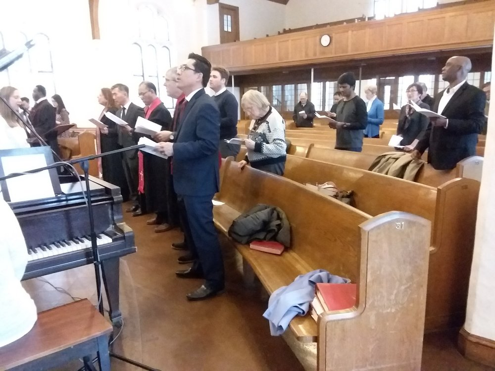 Many clergy from the Samuel Stillman Association were among those in attendance at the ordination service.