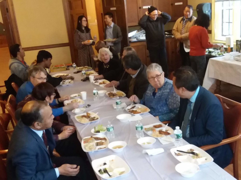 What would a Baptist gathering be without food? After the service, we enjoyed a variety of Korean dishes prepared by David's wife Ellen Haekyung Jun.