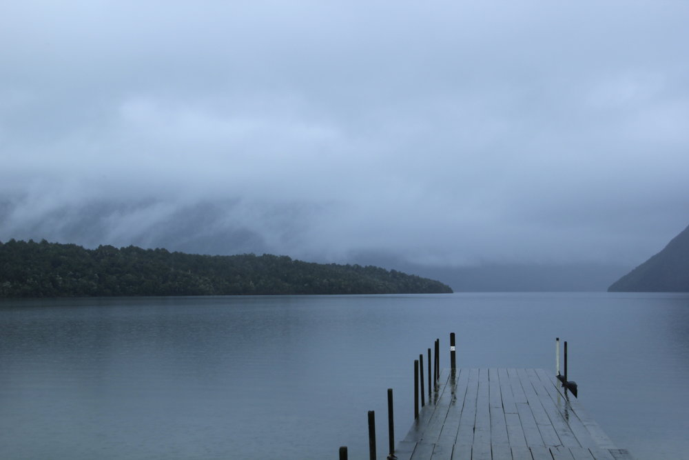 Turned off a side road and stumbled onto this serene lake during a gentle rainfall on the South Island of New Zealand.