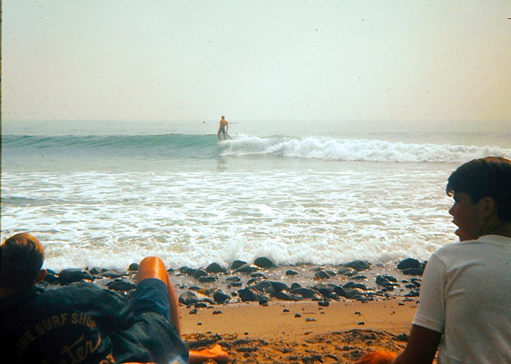 My dad shot this photo of Miki Dora circa '64 at the Malibu Invitational. Photo: Craig Hamlin