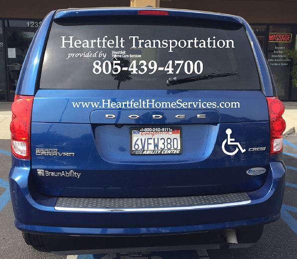 Heartfelt Transportation Van Back / Motor Scooter Lift and Wheelchair Accessible Handicapped Accessible Senior Elderly Transport Ride-on Easy Lift