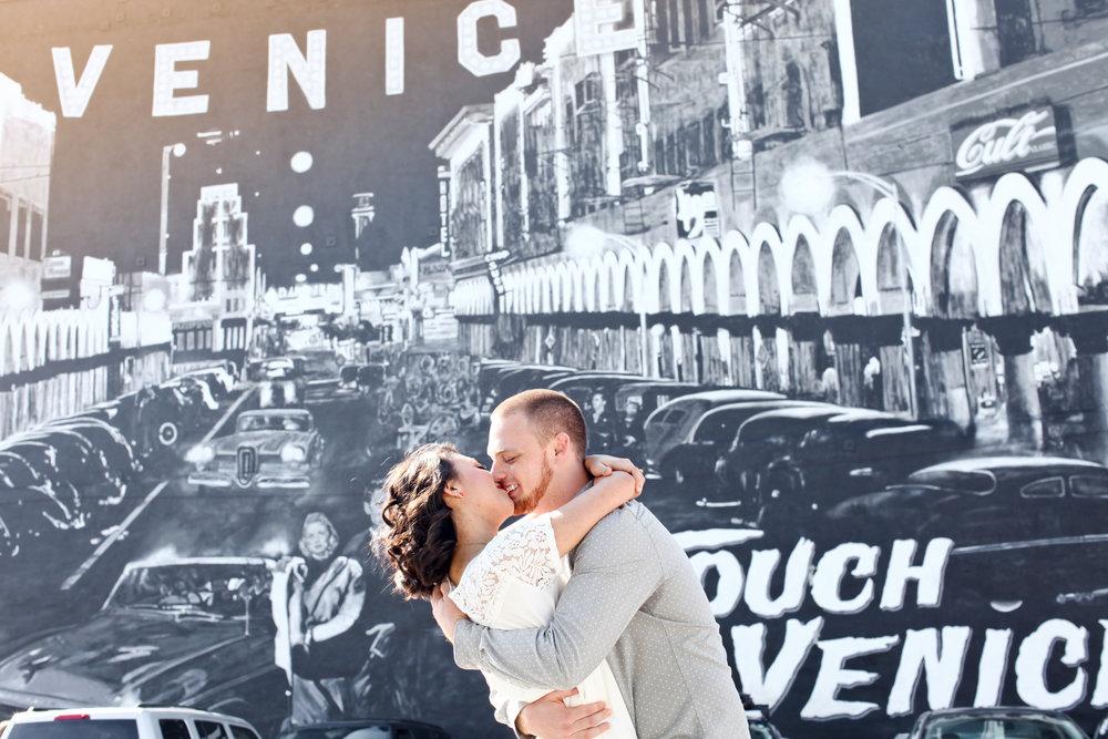 Lovisa Photo- Engagement Photography- Venice Beach Boardwalk, Los Angeles- California