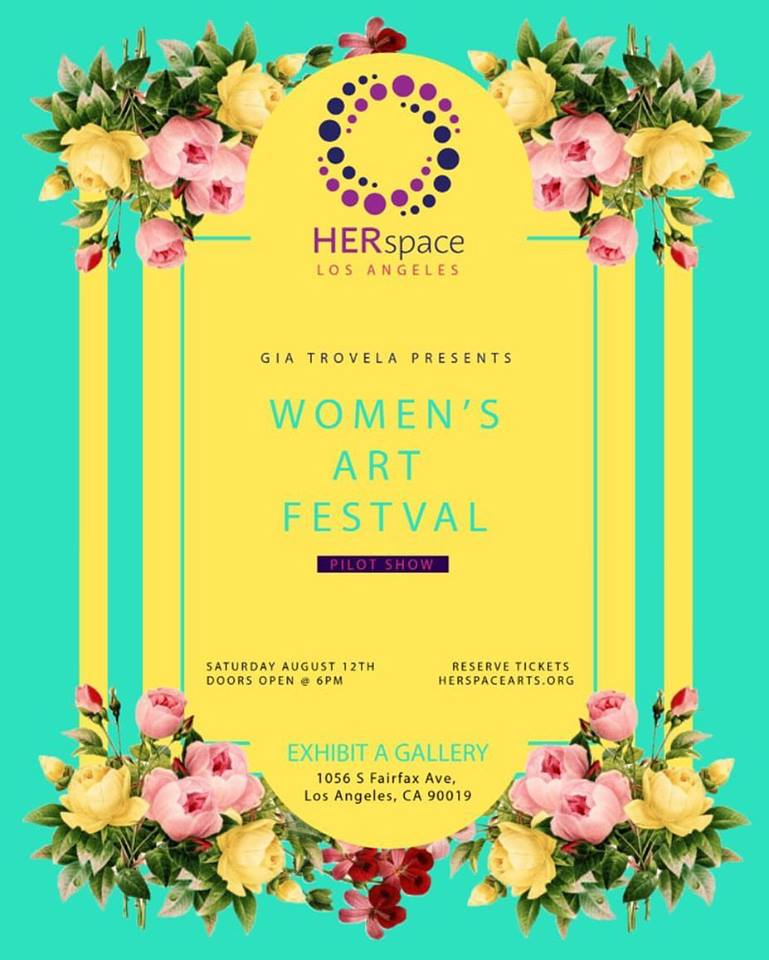 Happy to announce that I will be participating in the Women's Art Festival on August 12th at Exhibit A Gallery! Come out and support some talented women artists and get a visual eyeful! RSVP at  herspacearts.org .
