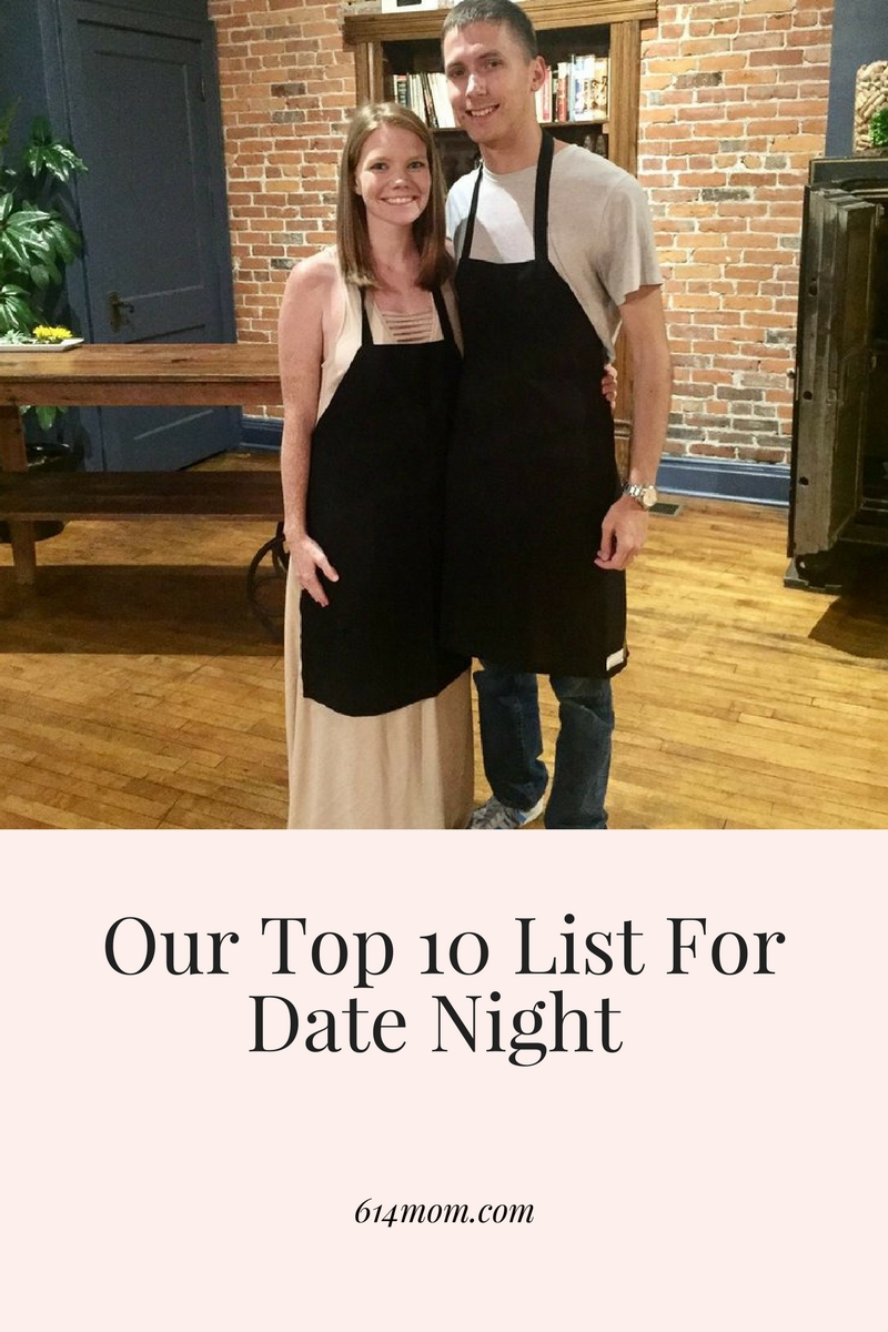 Our Top 10 List For Date Night - For us, date night is one of the most important nights of the week.  Between kids, work, the house, life can get busy (and sometimes stressful) and it's easy to make date nights last on the priority list, especially if it requires you coming up with something to do.  No need to worry though - I am sharing our go to list for date nights.  We pull these out when we just need to get out for some time together without the kids.  Our Top 10 Date Night List