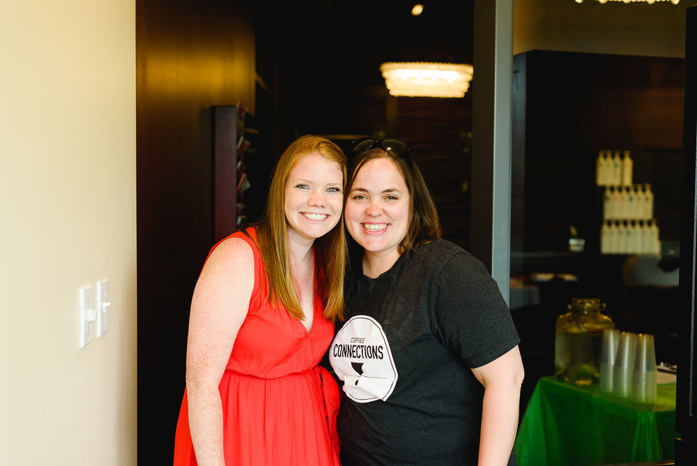 Sharon from Coffee Connections and Eryn at the 2018 Celebrating You Event