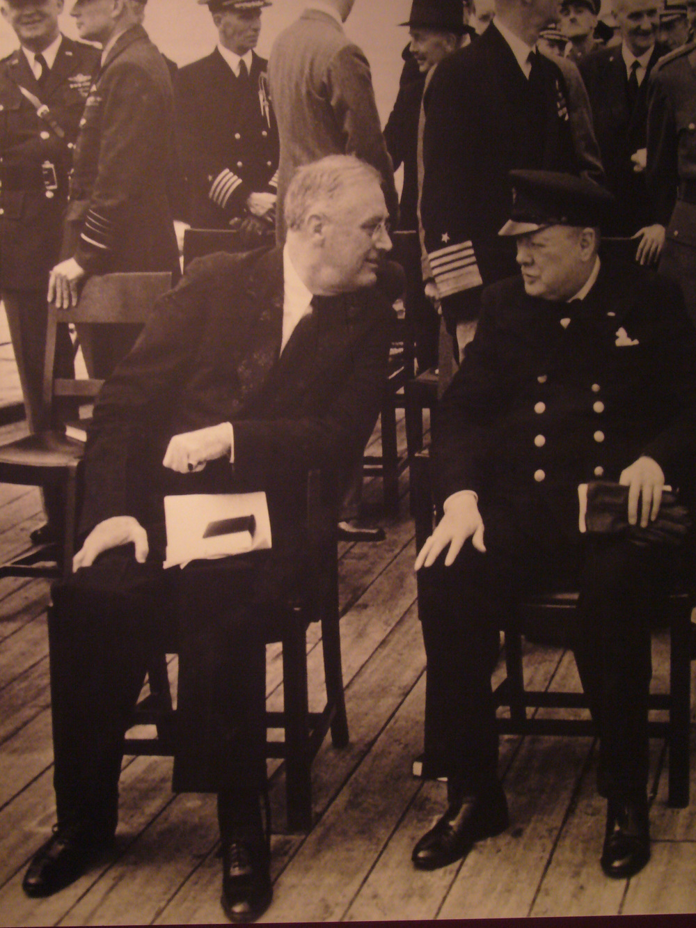 FDR with Winston Churchill