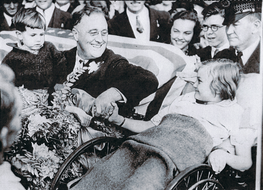 FDR with Melody Bresina, a fellow survivor of polio