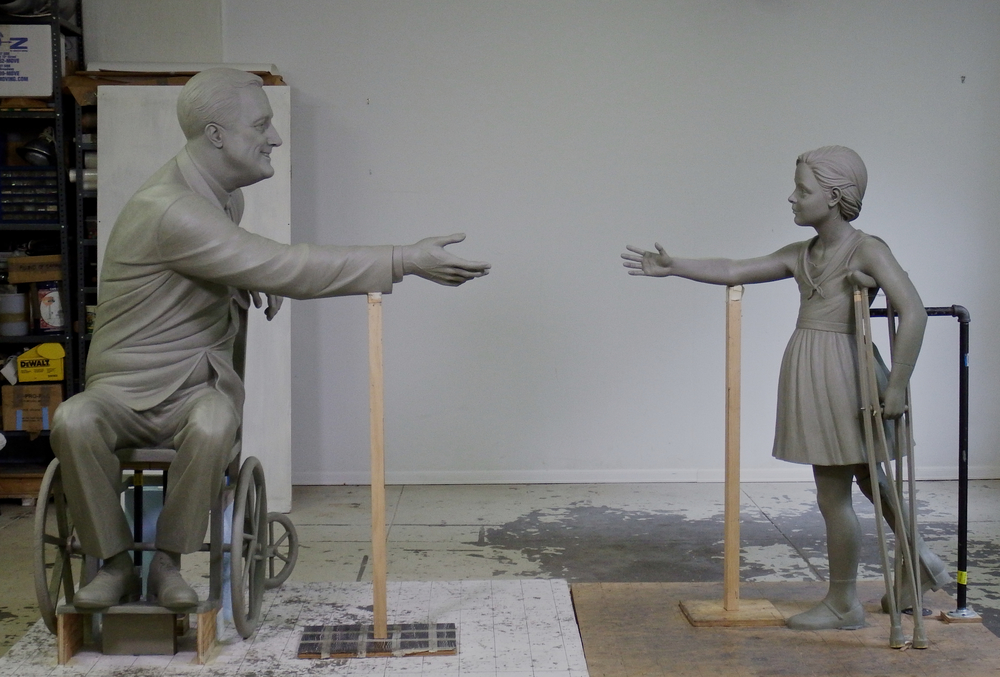 Full size clay sculptures