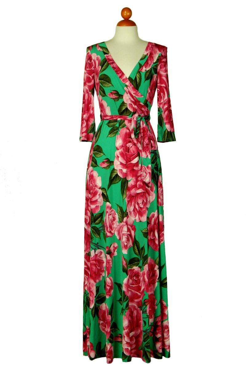 Pink And Green Rose Dress ...