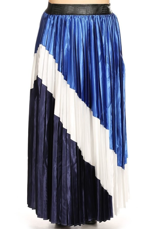 83cd1f53d9 Ocean Color Block Maxi Skirt — THE CLOSET EXPERIENCE