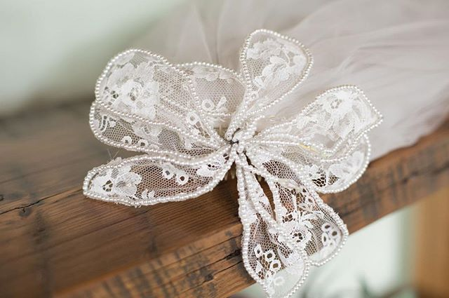 A precious family heirloom..a grandmother's veil worn by her granddaughter on her wedding day.