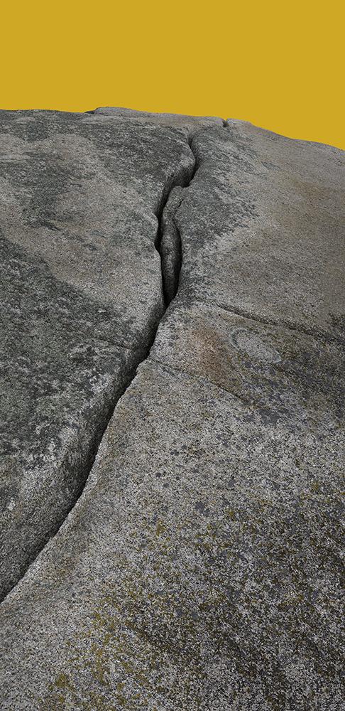 Granite Fissure 1 Yellow