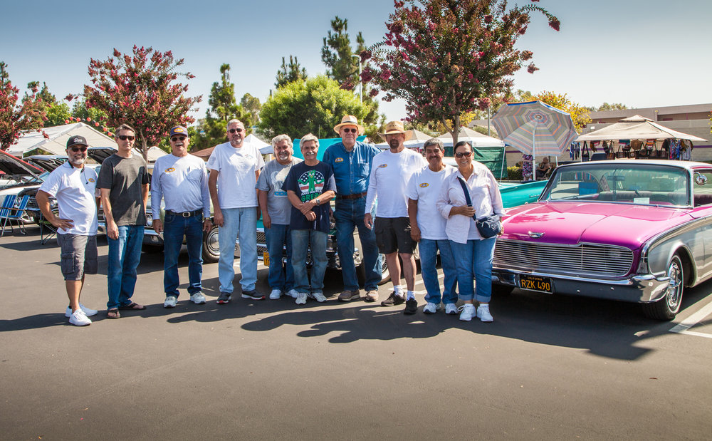 SoCal Galaxie Club Members at FireHouse Summer Car show 2017