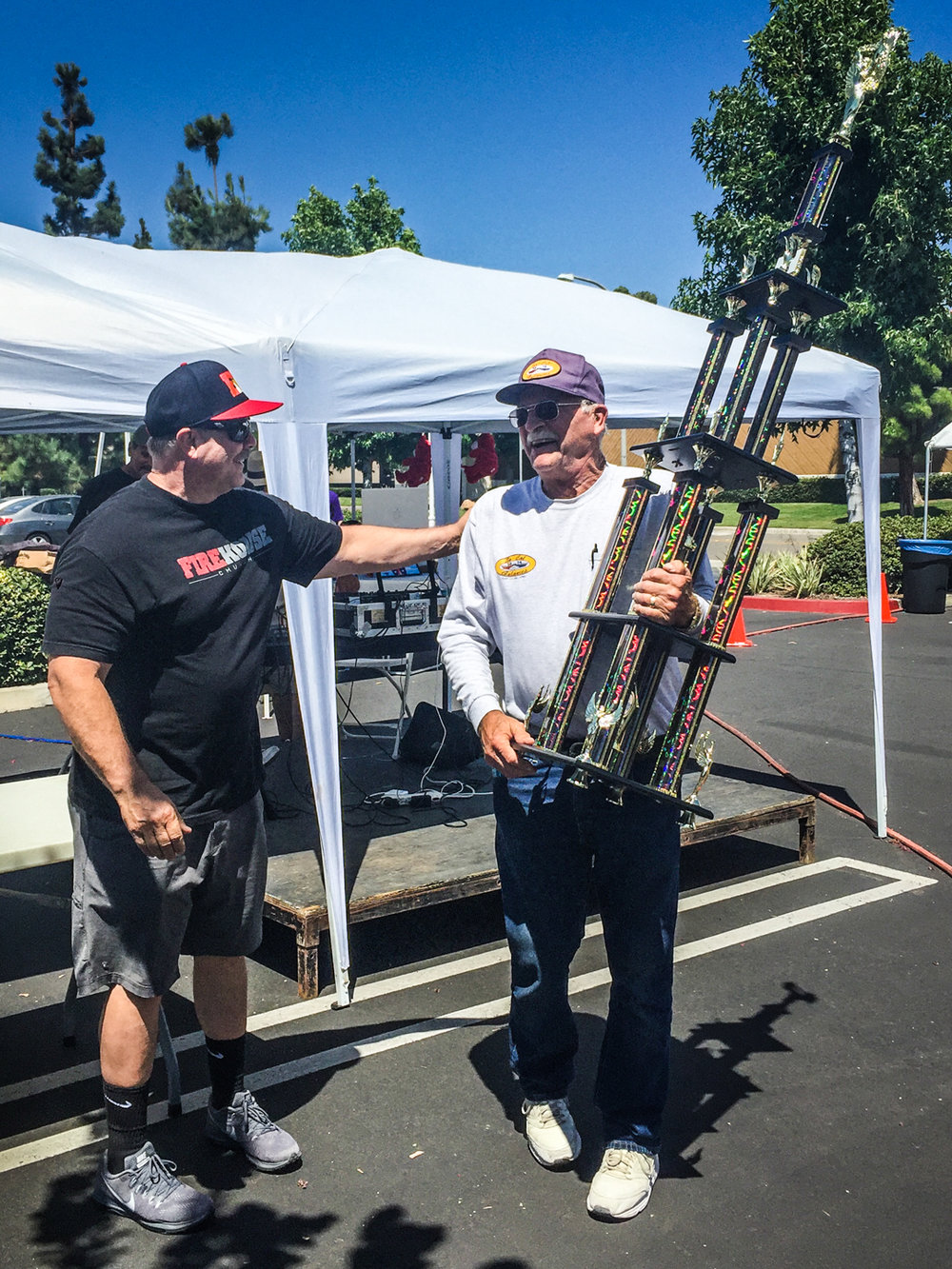 Allan accepts Best Group Participating for So Cal Galaxies at the Fire House Summer Car show