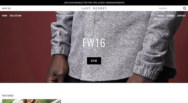 New site is now live with a look at our upcoming FW16 collection releasing online in August #lastresortintl #menswear #fw16 #createparadise