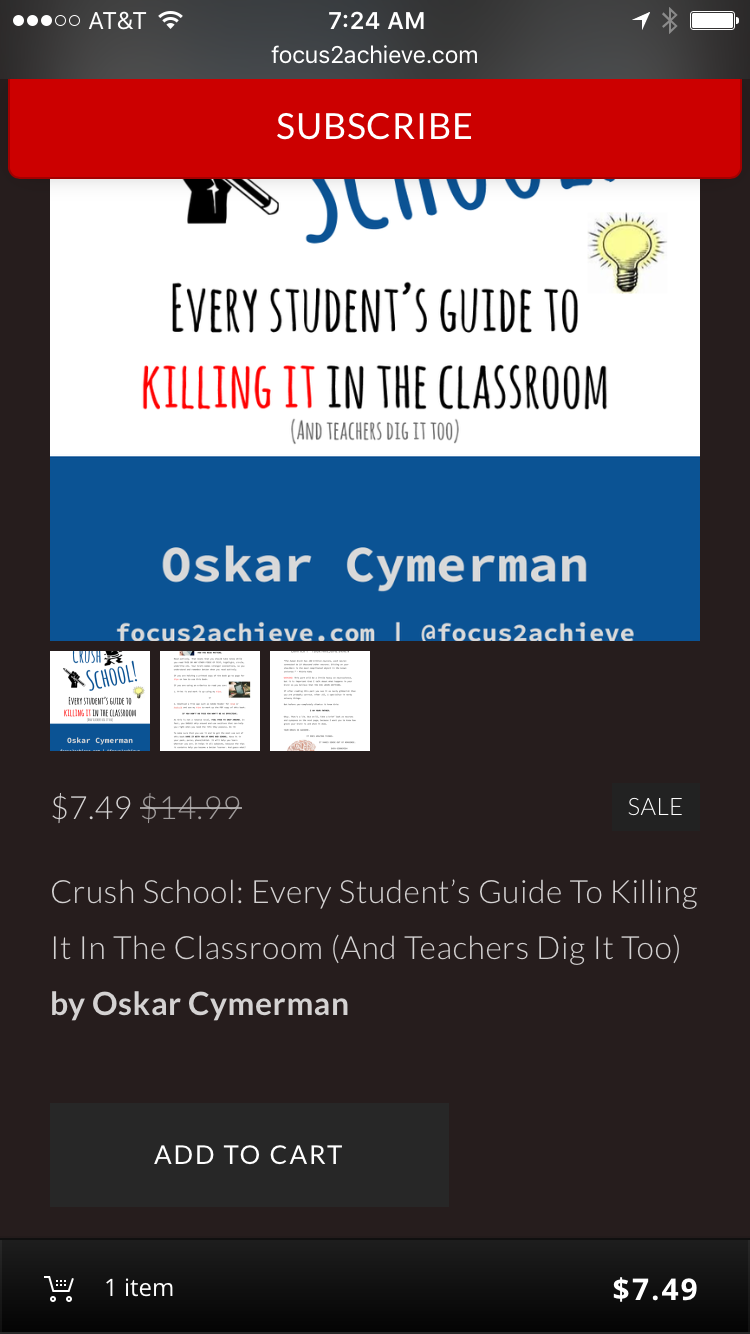 """Crush School"" Book Pre-order Screen"