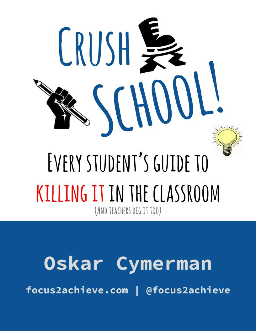 "Click on the Image to Buy the ""Crush School"" Book by Oskar Cymerman"