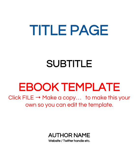 6 x 9 eBook Template (Write your own eBook) - FREE
