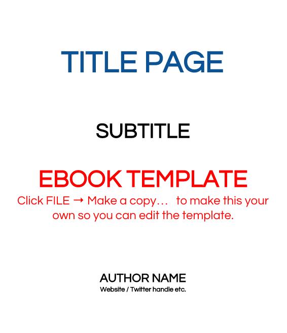 6x9 eBook Template