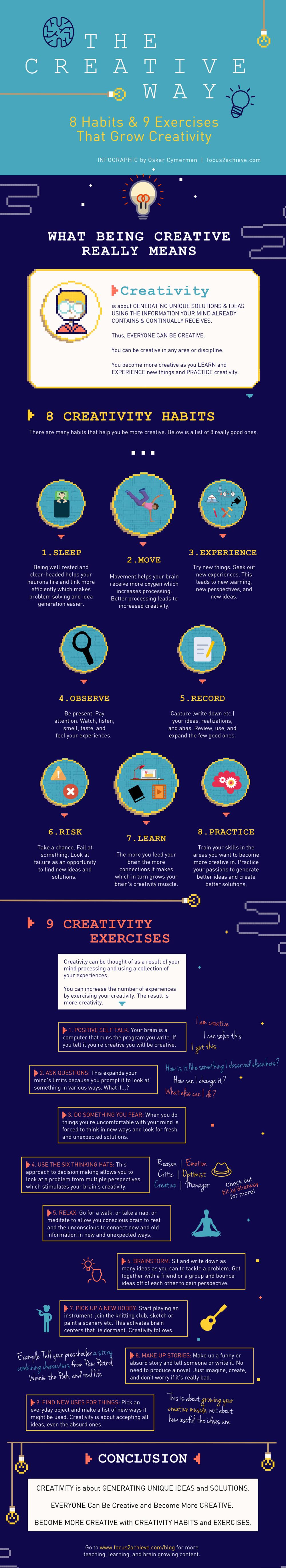 8 Habits & 9 Exercises That Grow Creativity
