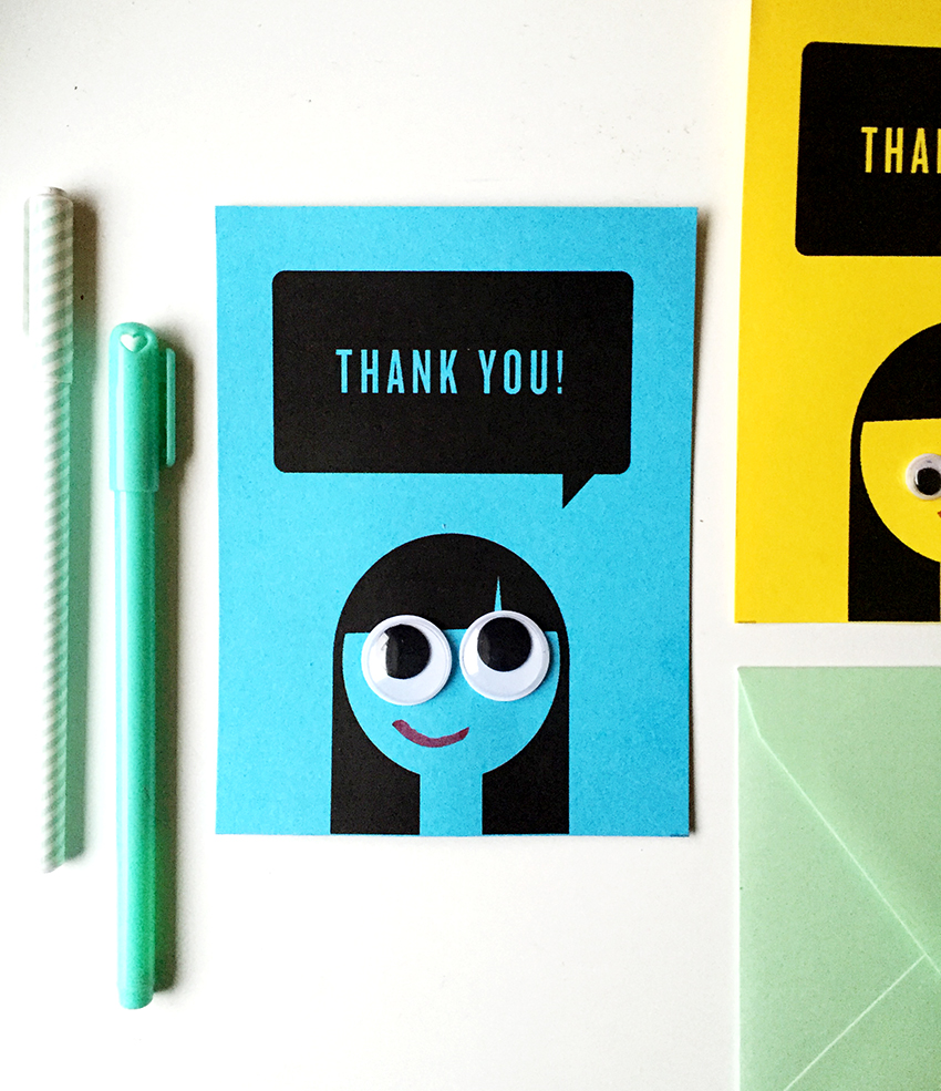 photo relating to Printable Googly Eyes referred to as Printable Googly Eyed Thank On your own Notes Darling Studio