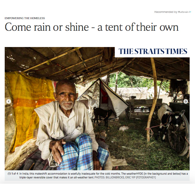 Come rain or shine - a tent of their own