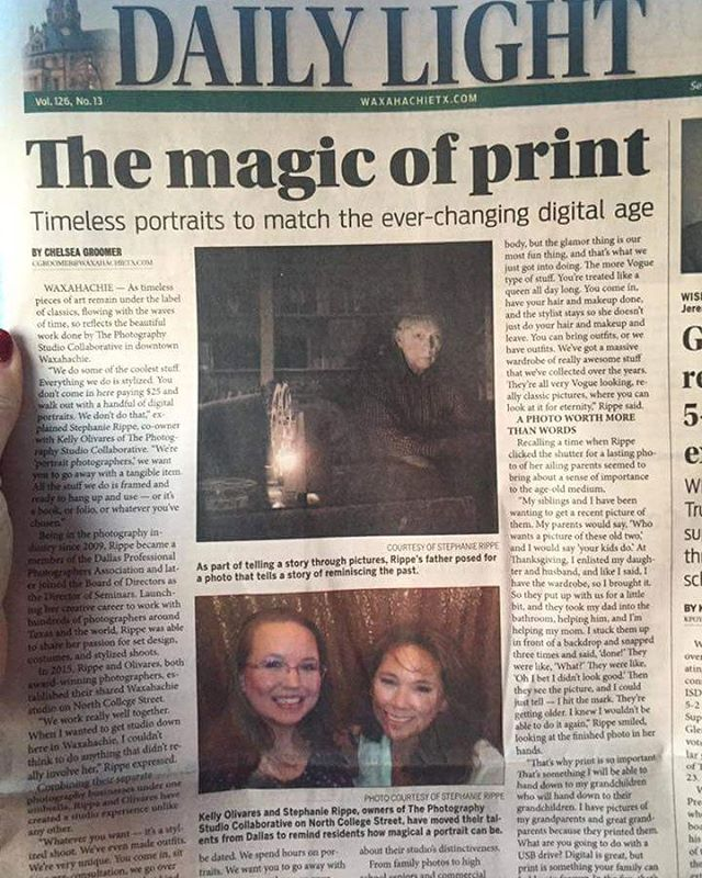 Did you see a made the front page of the Waxahachie Daily Light newspaper?!?! We are so excited to be a part of the Waxahachie community!