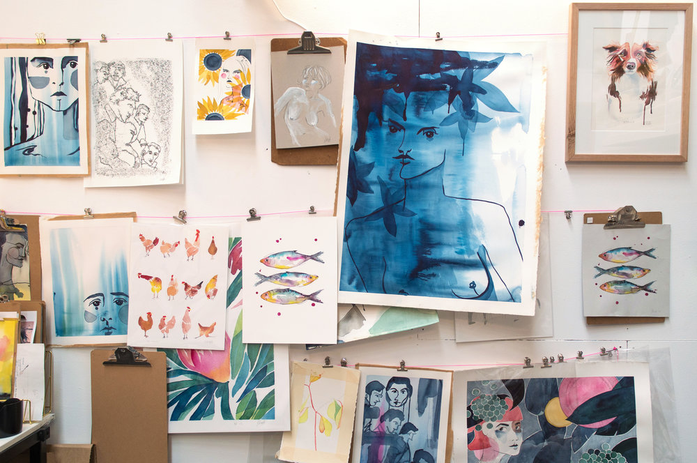 a world of colour - Welcome to my studio