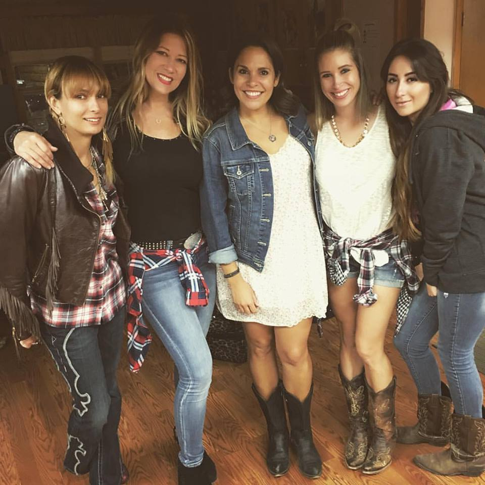 Rhinestone Cowgirls Kelly Ann, Tina Michelle, Monica, Tori, and Ramsey