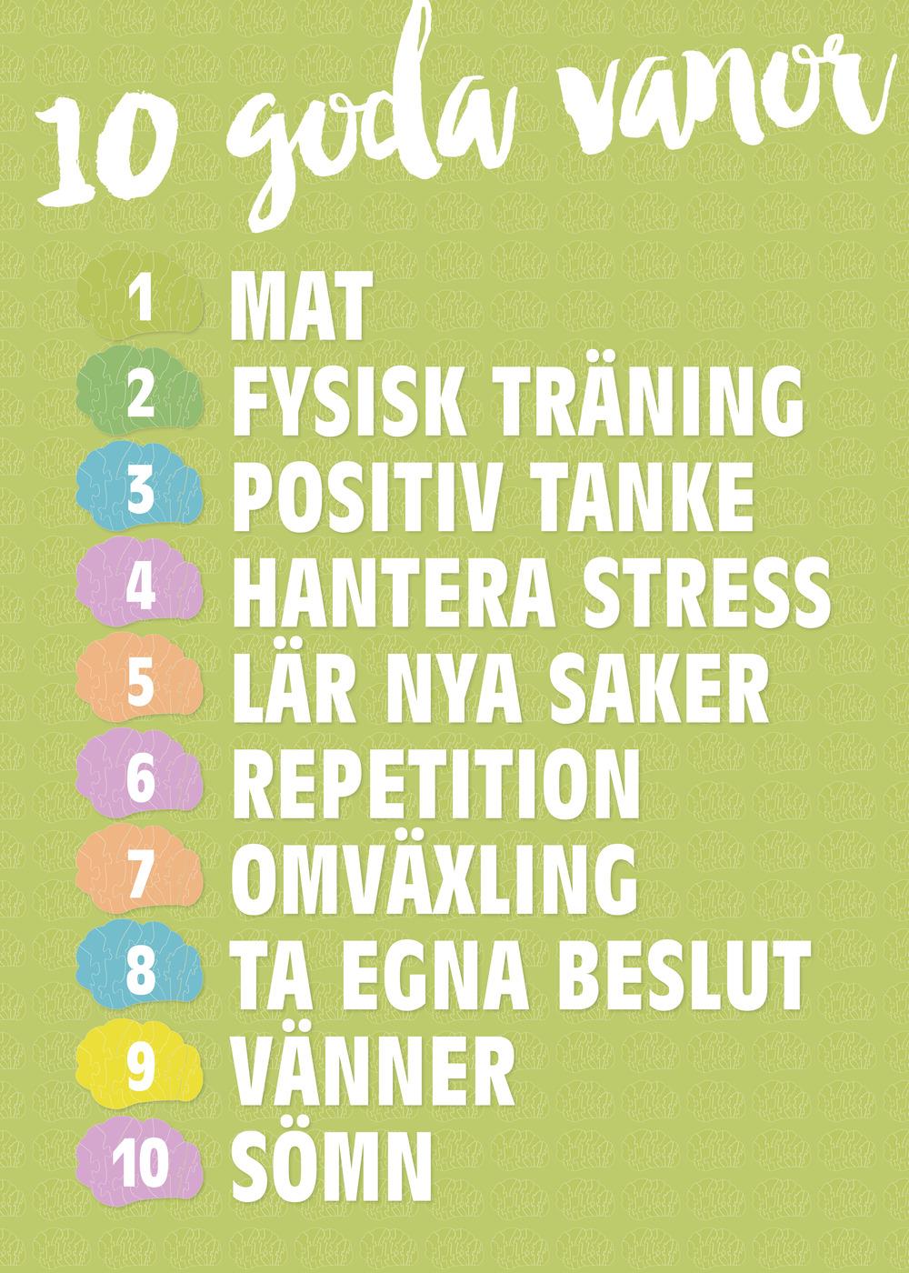 De 10 goda vanorna är framtagna tillsammans med forskare runt om i världen.
