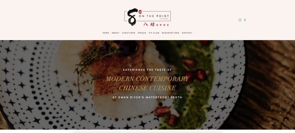 8 ON THE POINT - RESTAURANT WEBSITE