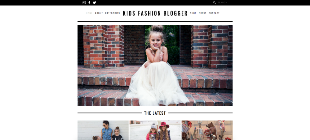 KIDS FASHION BLOGGER - FASHION BLOG WEBSITE