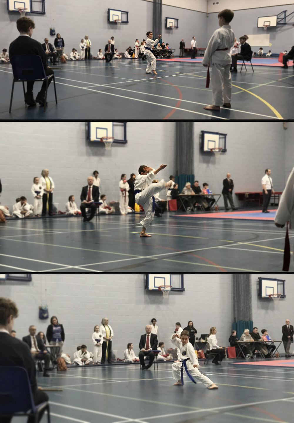One of our students performing kata at a competition 2018
