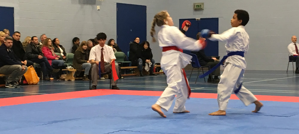 Competition kumite fighting