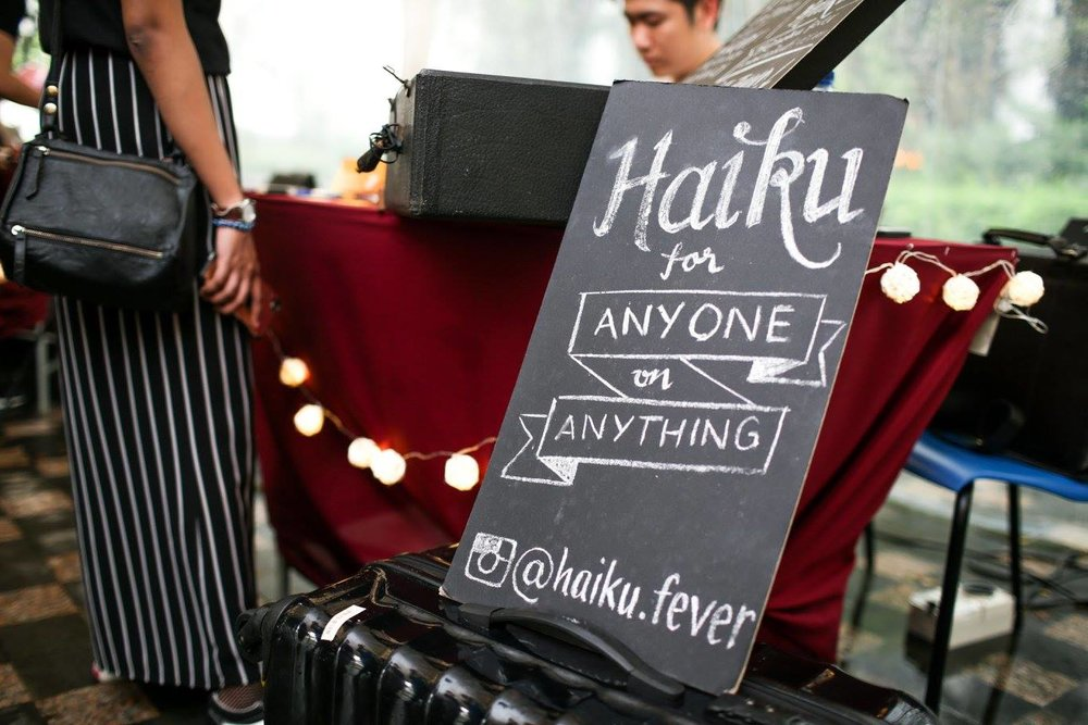 Haiku Up Your Event - Create an unforgettable interactive experience at your event as your guests leave with freshly crafted haiku cards, each one co-created with their input.