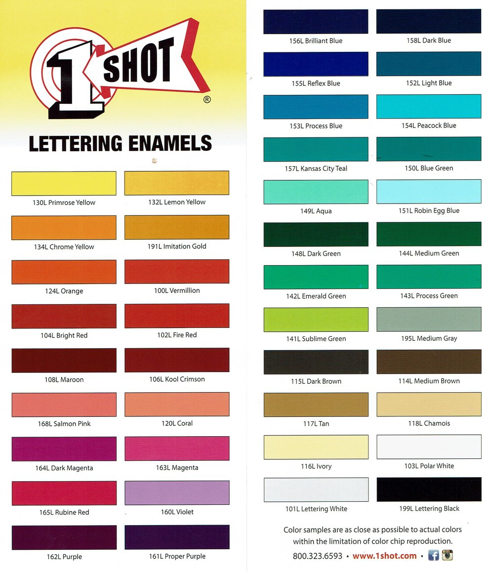 One Shot Color Guide