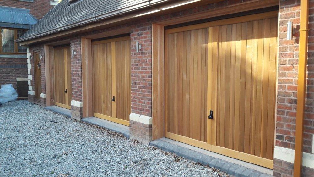 Woodrite 'Chalfont' vertical cedar doors