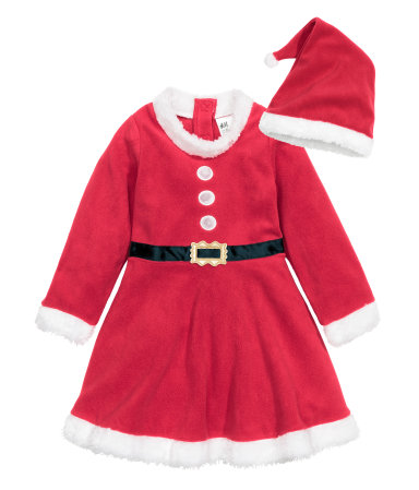 """Tomte"" dress, fleece - HM, 199 SEK"