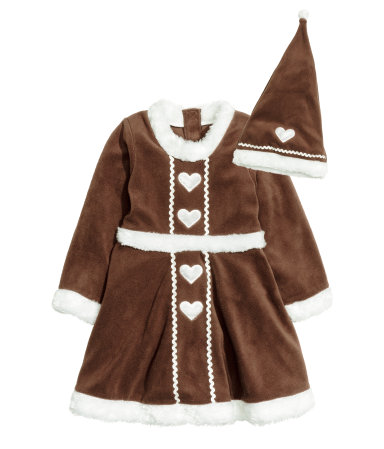 Gingerbread dress - HM, 199 SEK