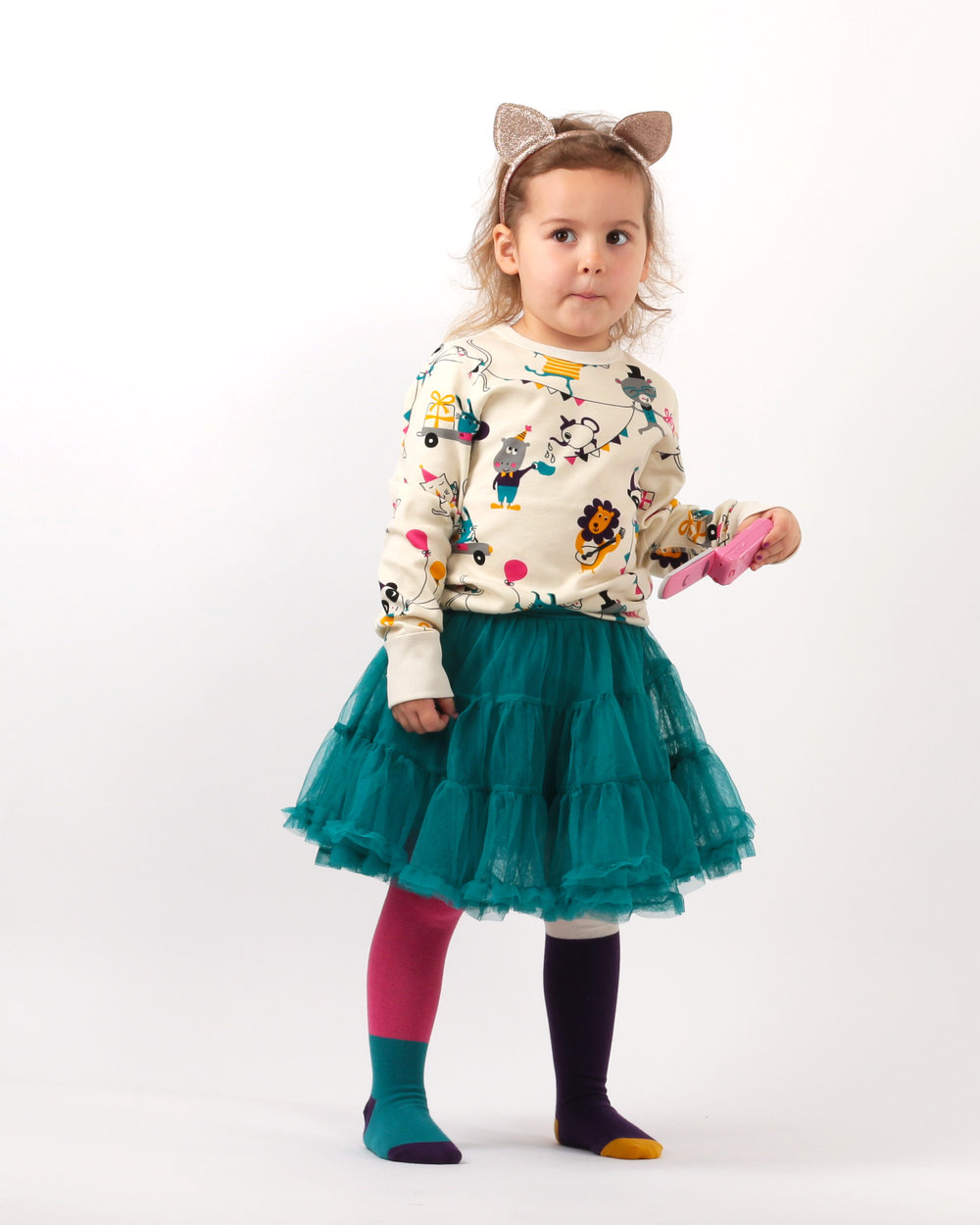 Lily's circus print shirt and tutu? Too cute!