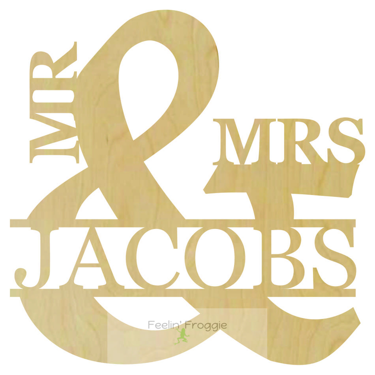 Mr and Mrs Wooden Cut out Monogram Name, Wall/Door decor, Wedding ...
