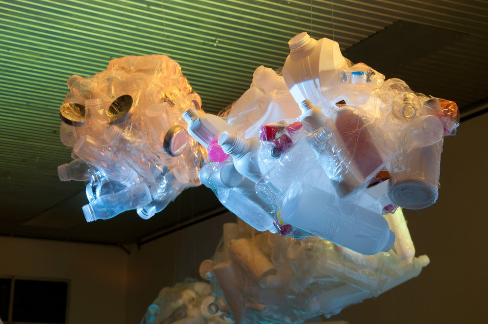 """Clouds"" of plastic waste."